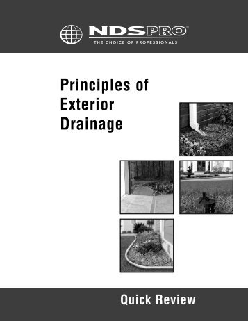 Principles of Exterior Drainage - Quick Review - WP Law, Inc.