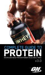 COMPLETE GUIDE TO - 2013 Protein Report