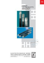 791e, DRIESCHER - High-voltage high breaking capacity fuses from ...