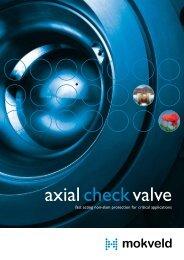 Mokveld axial check valve brochure