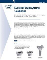 Surelock Quick Acting Couplings - Dixon Valve