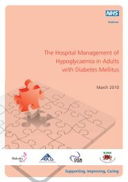 The Hospital Management of Hypoglycaemia in ... - NHS Diabetes