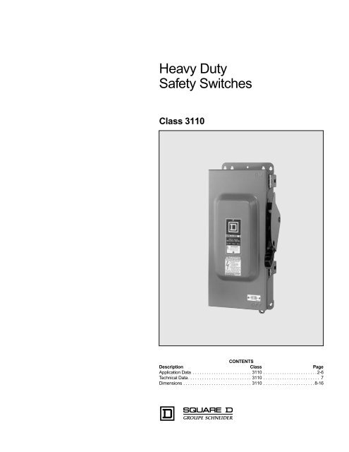 Heavy Duty Safety Switches - CFM Equipment