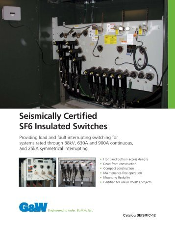 Seismically Certified SF6 Insulated Switches - G&W Electric