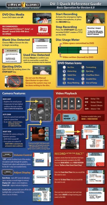 Download dv 1 user manual watchguard video dv 1 quick reference guide watchguard video asfbconference2016 Choice Image
