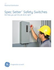 Safety Switch Brochure - GE Industrial Systems