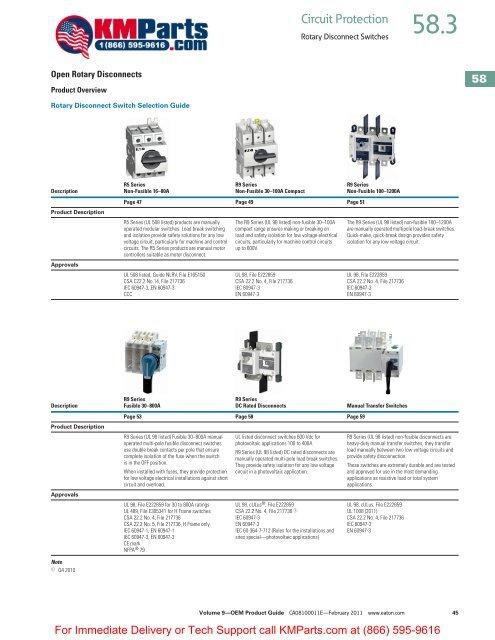Rotary Disconnects - Klockner Moeller Parts