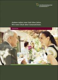 Imagebroschüre Private Banking - Liechtensteinische Landesbank