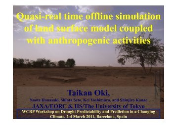 Quasi-real time offline simulation of land surface model ... - WCRP