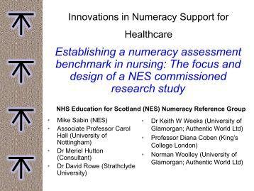 Establishing a numeracy assessment benchmark in nursing: The ...