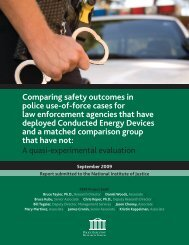 Comparing safety outcomes in police use-of-force cases for law ...