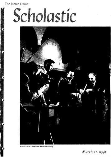 Notre Dame Scholastic, Vol. 91, No. 19 - Archives - University of ...