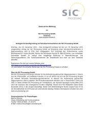 quasi-ad hoc SiC Processing Dec 20, 2012 ESUG admitted