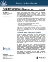 Emerging Markets Corporate Debt - Prudential