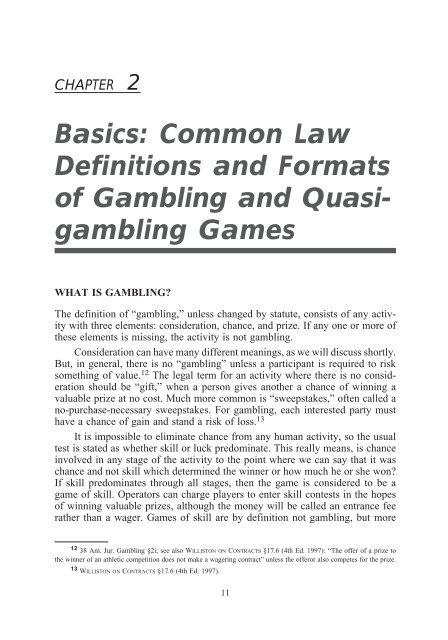 definition free gambling captivity