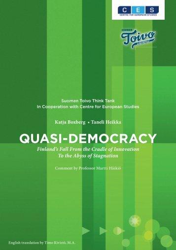 QUASI-DEMOCRACY - Centre for European Studies