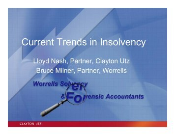 Current Trends in Insolvency - Worrells