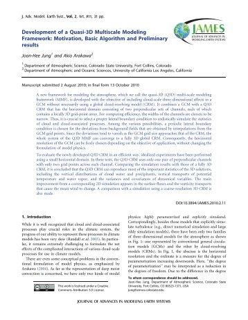 Development of a Quasi-3D Multiscale Modeling Framework