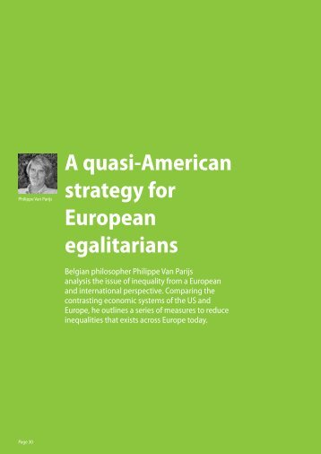 A quasi-American strategy for European egalitarians - Green ...