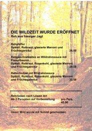 Die Jagtgruppe - Gasthof zum Löwen Schangnau