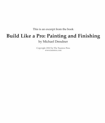 Build Like a Pro: Painting and Finishing - The Taunton Press