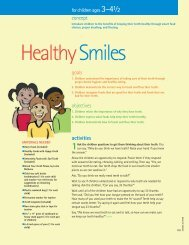 Lesson 10 - Healthy Smiles - Florida Department of Health
