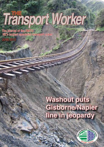 Washout puts Gisborne/Napier line in jeopardy - Rail and Maritime ...