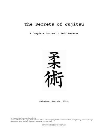 Secret Jujitsu - Judo Information Site