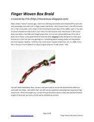 Finger Weaving Box Braid Tutorial