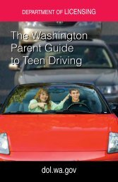 Parent Guide to Teen Driving - Washington Department of Licensing