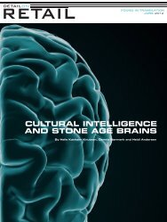 cultural intelligence and stone age brains - Living Institute