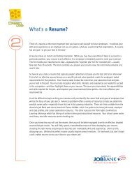 What's a Resume? - Alaska Job Center Network