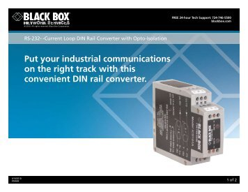 Put your industrial communications on the right track ... - Black Box