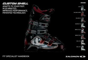 ADAPTS TO yOuR FOOT. IN 20 MINuTeS. IMPROveS - Salomon ...