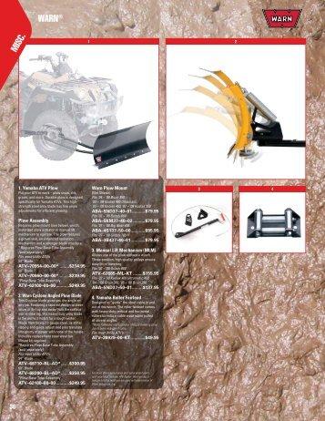 WARN® MISC . - yamaha motor canada