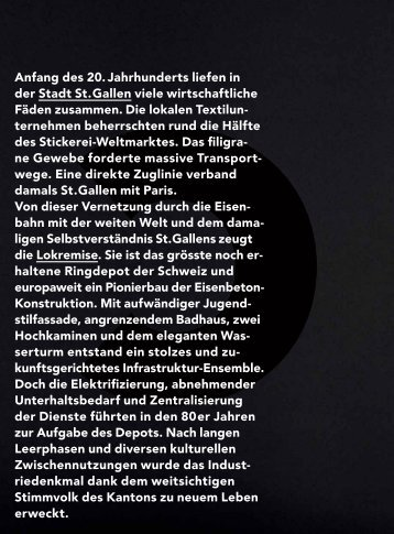 Imagebroschüre Lokremise