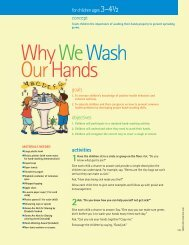 Lesson 12 - Why We Wash Our Hands - Florida Department of Health