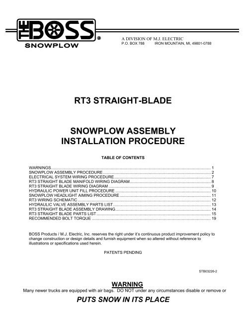 Trip Blade Boss Rt3 Wiring Diagram - Nice Place to Get ... on gmc 4x4 actuator wiring diagram, meyer e-60 snow plow wiring diagram, meyer snow plow pump wiring diagram, western cable control snow plow wiring diagram, snow plow light wiring diagram,