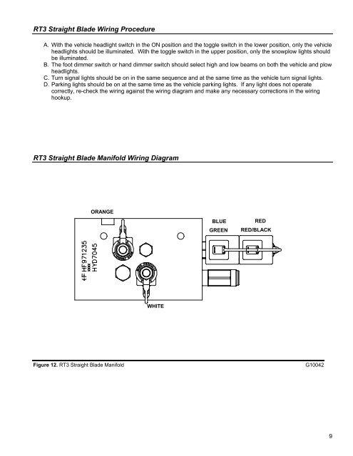 boss snow plow headlight wiring diagram rt3 straight blade wiring  rt3 straight blade wiring