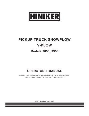 Hiniker 9850 Manual - Snow Plow Stuff  sc 1 st  Yumpu : hiniker plow wiring diagram - yogabreezes.com