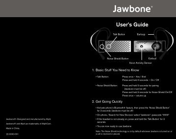 User's Guide - Jawbone