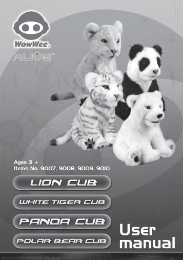 Alive Cubs Manual - WowWee