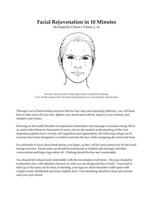 Finger Facial Rejuvenation - Clinton Choate L.Ac