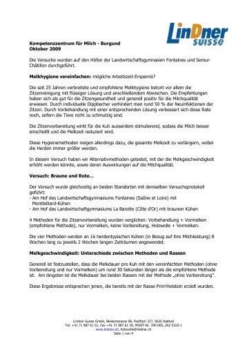 Kompetenzzentrum für Milch - Burgund Oktober 2009 ... - Holzwolle