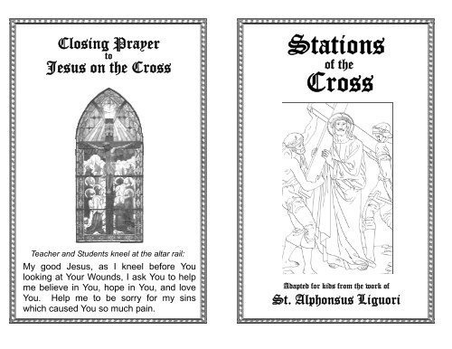 graphic about Stations of the Cross Prayers Printable called printable Stations of the Cross - St. John the Baptist Roman
