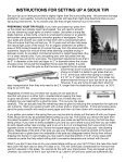 Instructions for Setting up a Sioux Tipi (pdf - Nomadics Tipi Makers - Page 5