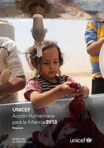 UNICEF Acción Humanitaria para la Infancia 2013