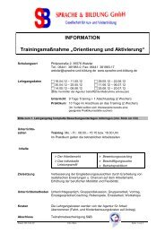 I N F O R M A T  I O N - SPRACHE & BILDUNG GmbH