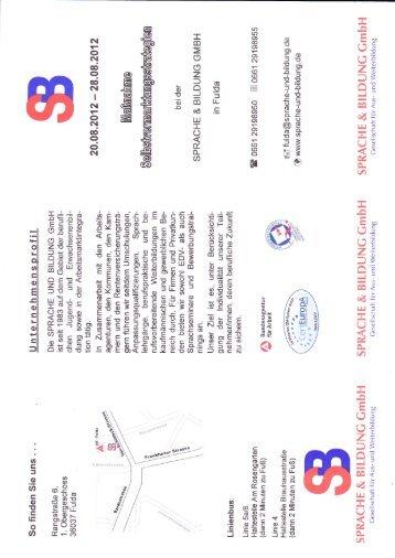 (,t F5 g\ - SPRACHE & BILDUNG GmbH