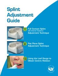 Splint Adjustment Guide - Great Lakes Orthodontics